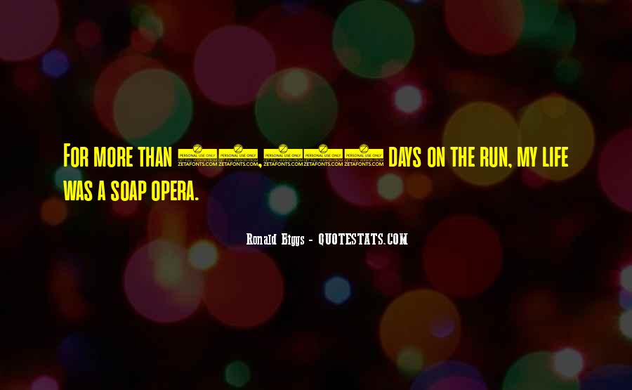 Running For My Life Quotes #1383995