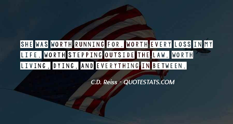 Running For My Life Quotes #1554194