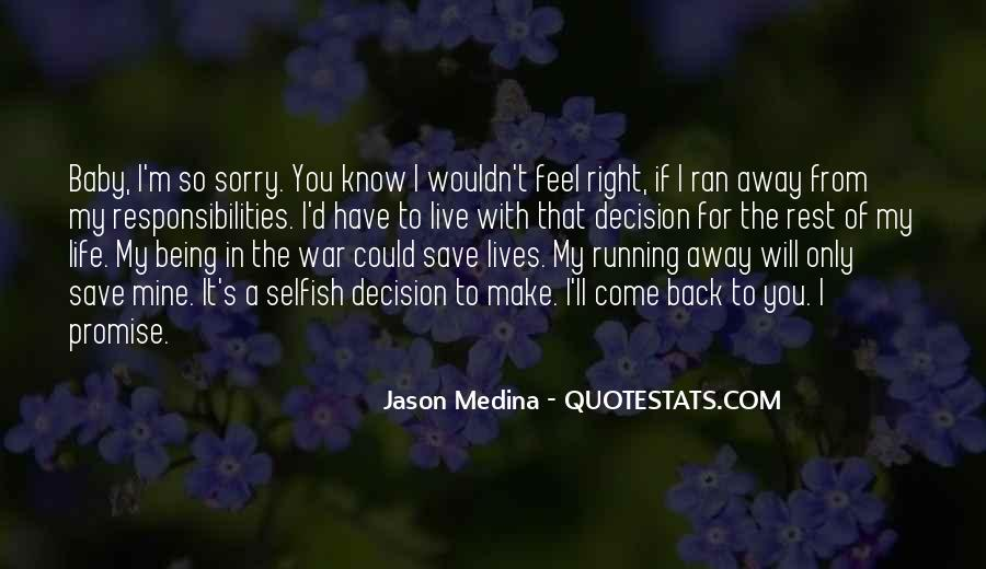 Running For My Life Quotes #322450