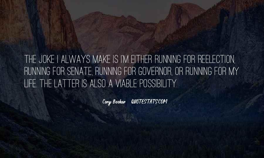 Running For My Life Quotes #917766