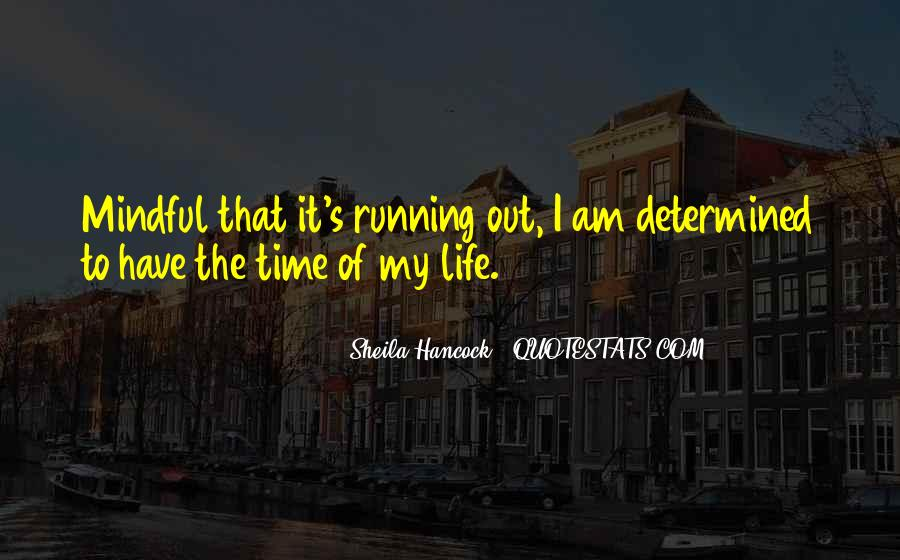 Running Out Of Life Quotes #364080