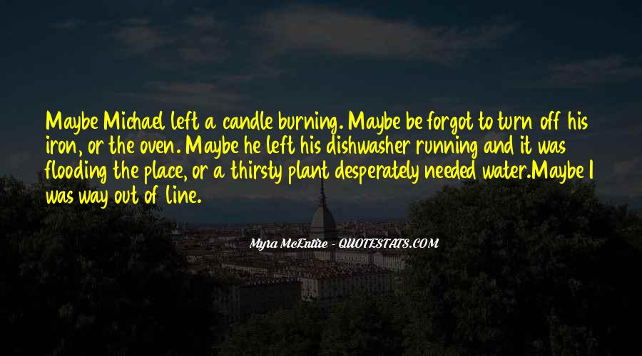 Running Out Of Water Quotes #293566