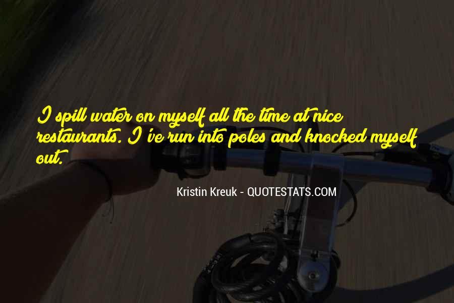 Running Out Of Water Quotes #460442