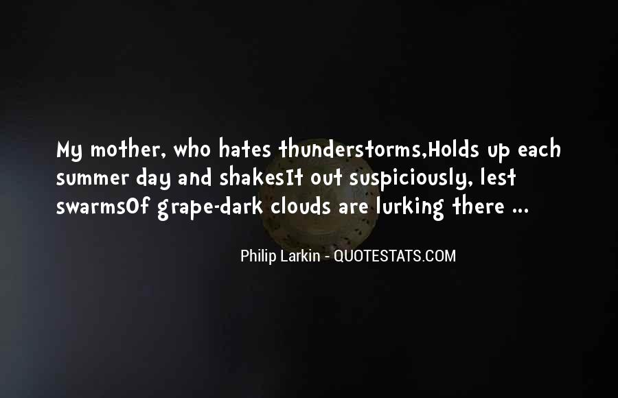 Quotes About Summer Thunderstorms #13492