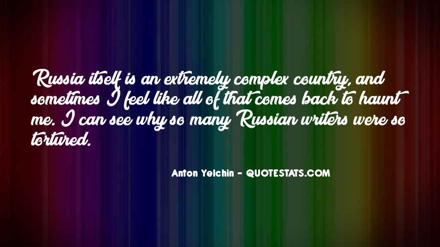 Russian Writers Quotes #1672555