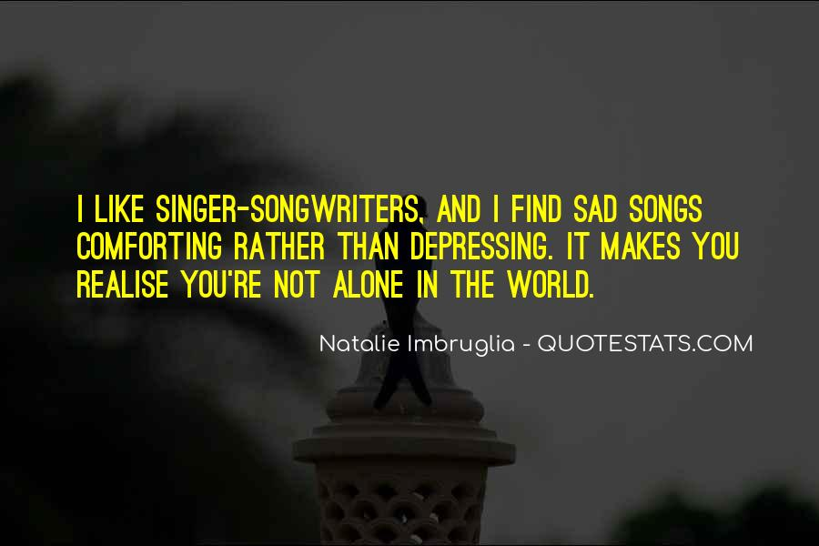 Top 7 Sad Depressing Songs Quotes Famous Quotes Sayings About Sad Depressing Songs