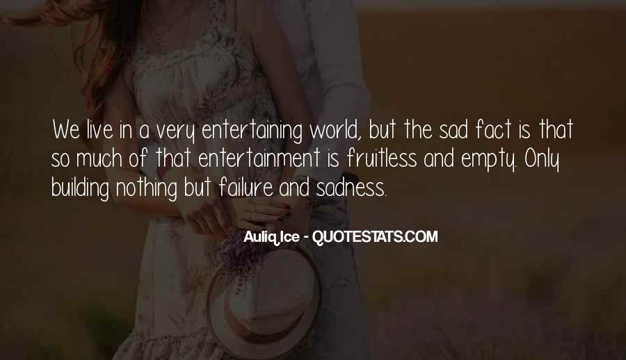 Sad Life Fact Quotes #770253