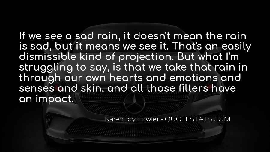 Sad Rain Quotes #206893