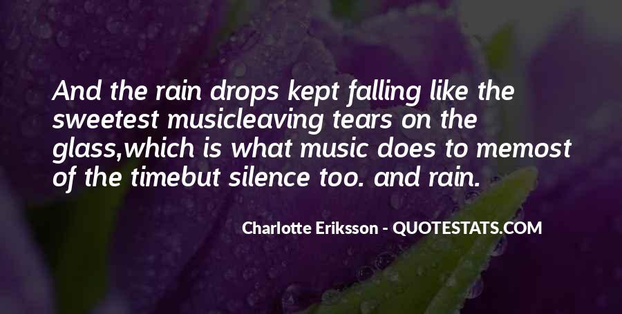 Sad Rain Quotes #410969