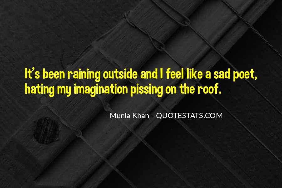 Sad Rain Quotes #682280