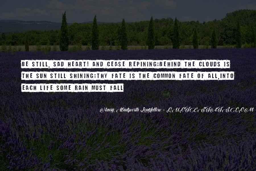 Sad Rain Quotes #685861