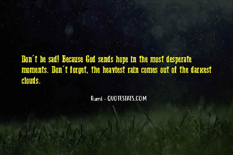 Sad Rain Quotes #869288