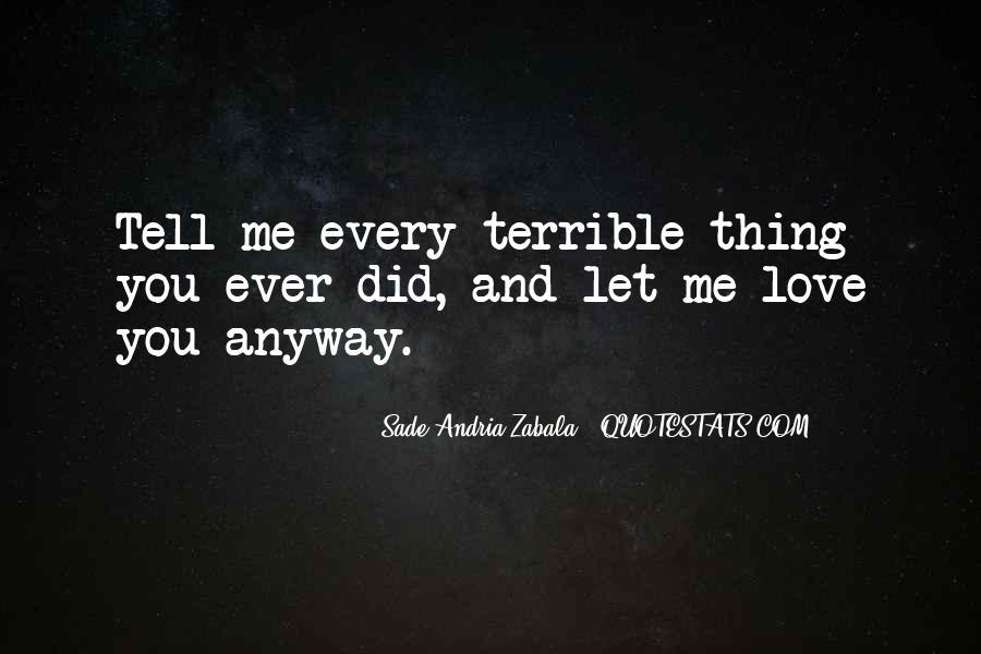 Sade Zabala Quotes #732438