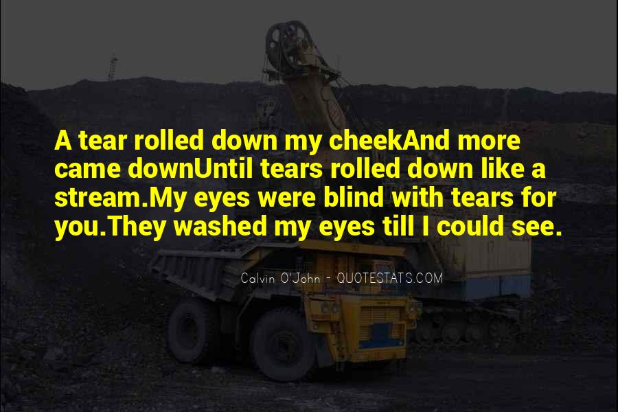 Sadness In His Eyes Quotes #1184904