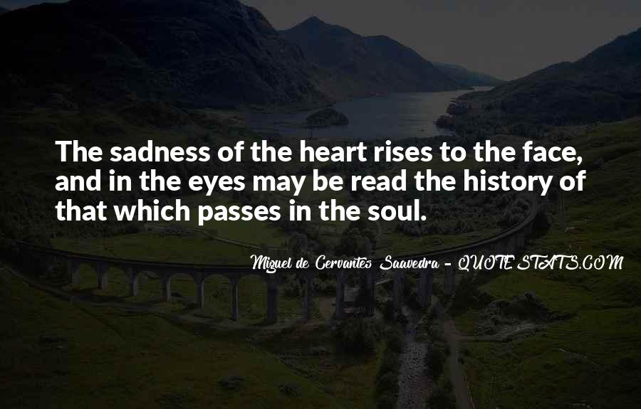 Sadness In His Eyes Quotes #555293