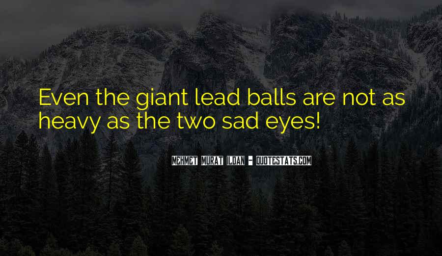 Sadness In His Eyes Quotes #716570