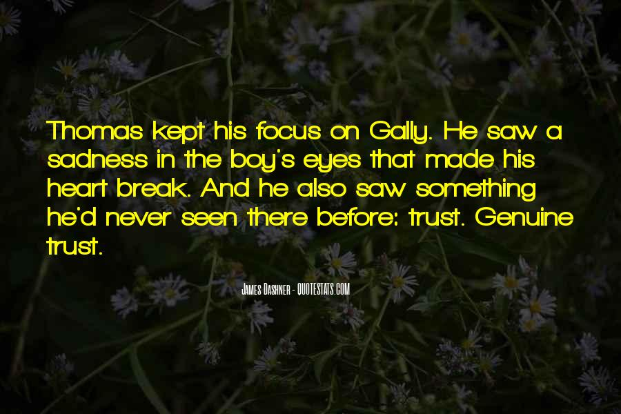 Sadness In His Eyes Quotes #819944