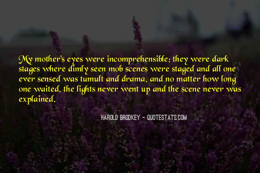 Sadness In His Eyes Quotes #951502