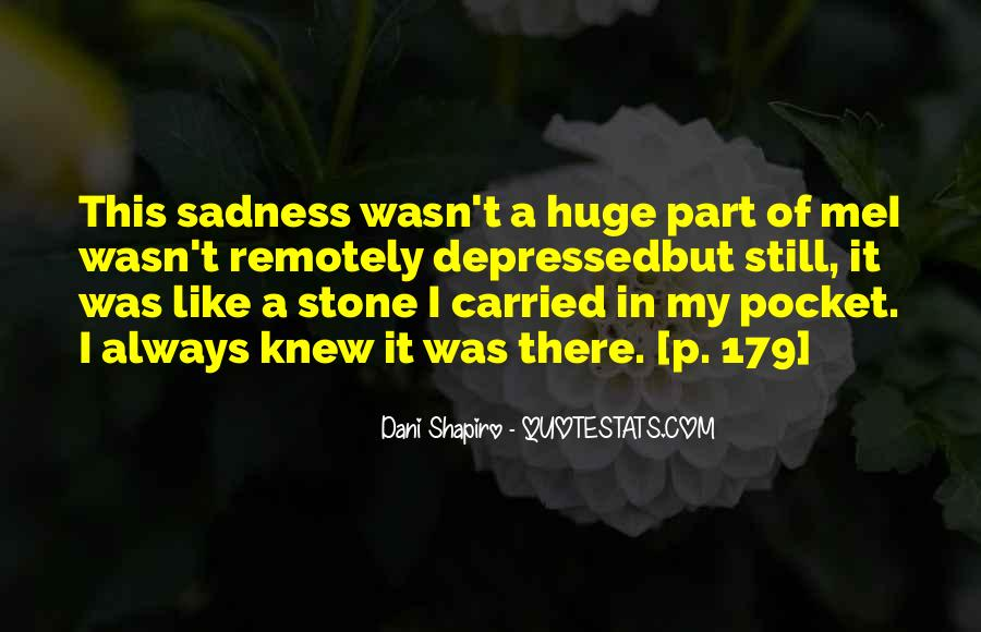 Sadness Is Always With Me Quotes #167653