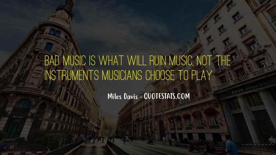 Quotes About Miles Davis #271207