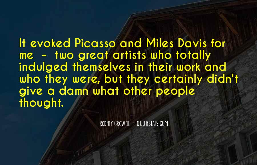 Quotes About Miles Davis #396683