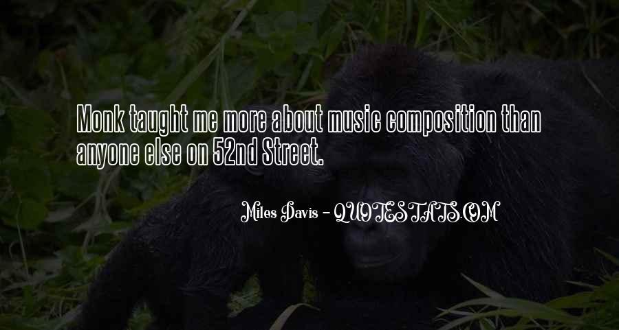 Quotes About Miles Davis #486264