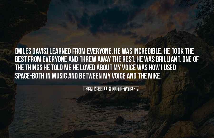 Quotes About Miles Davis #509928