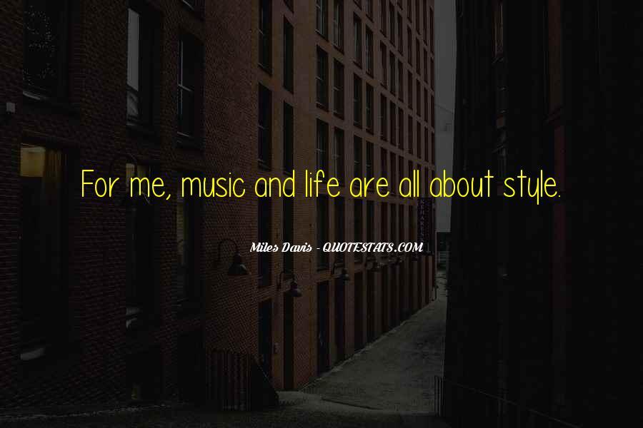 Quotes About Miles Davis #628493