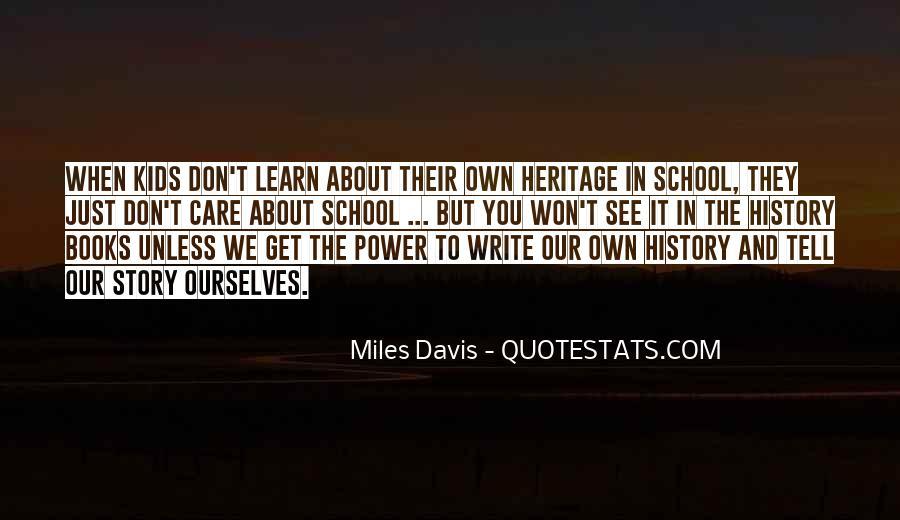Quotes About Miles Davis #66058