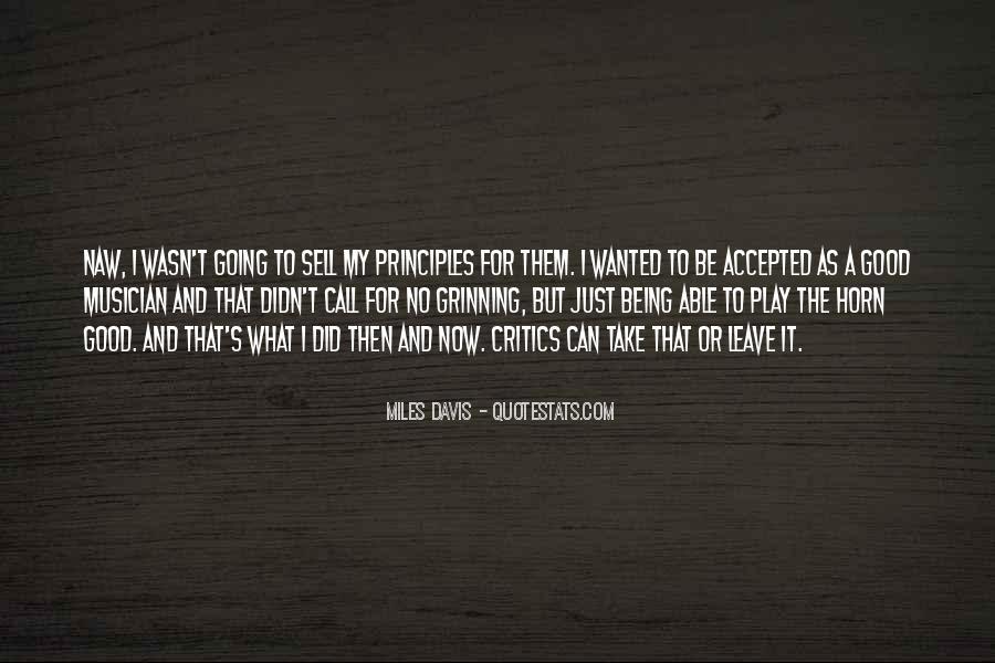 Quotes About Miles Davis #765492