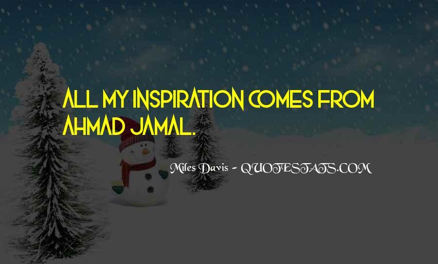 Quotes About Miles Davis #870421