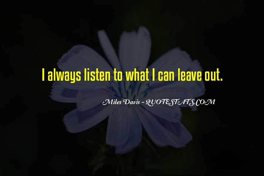 Quotes About Miles Davis #99029