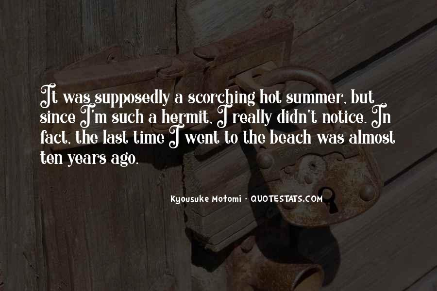 Quotes About Summer At The Beach #139153