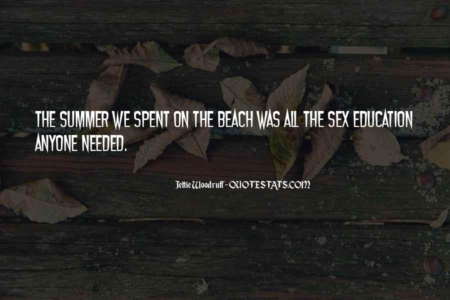 Quotes About Summer At The Beach #1563495