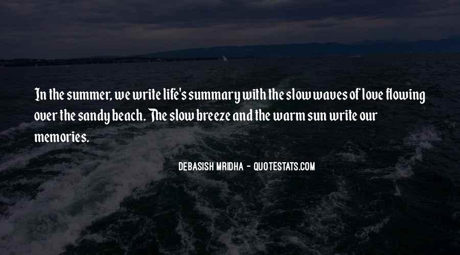 Quotes About Summer At The Beach #1687279