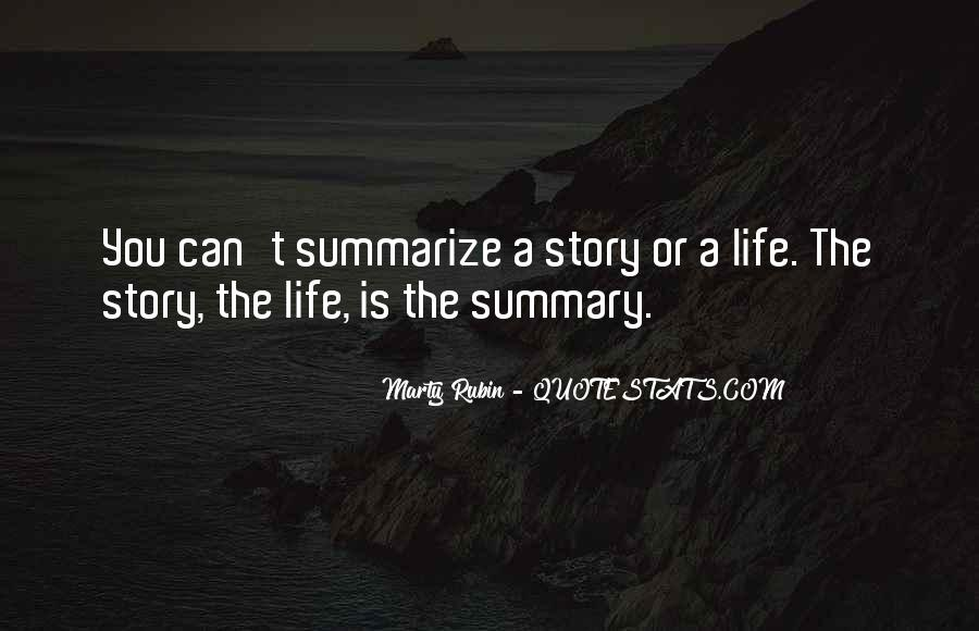 Quotes About Summaries #1722267