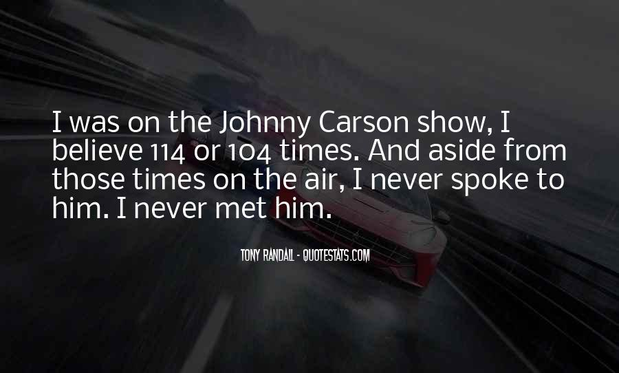 Quotes About Johnny Carson #509551