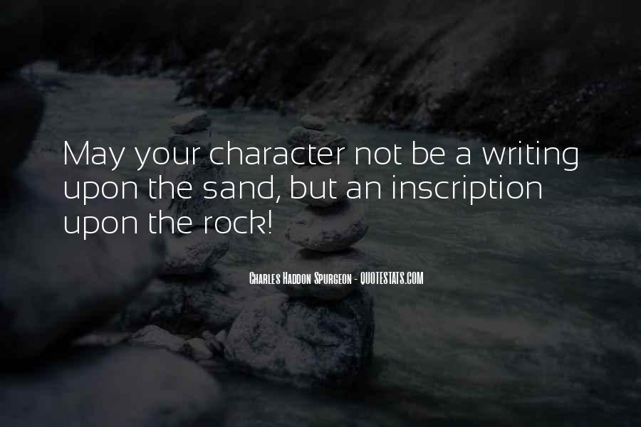 Sand And Rock Quotes #1557907