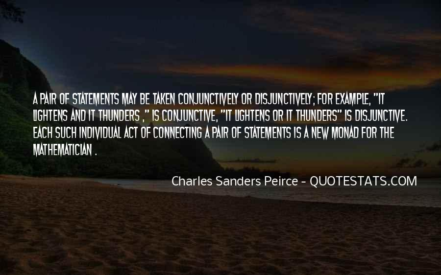 Sanders Peirce Quotes #1083763
