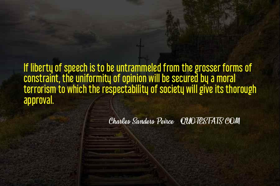 Sanders Peirce Quotes #1475450