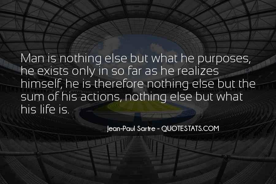 Sartre Nothing Quotes #436101