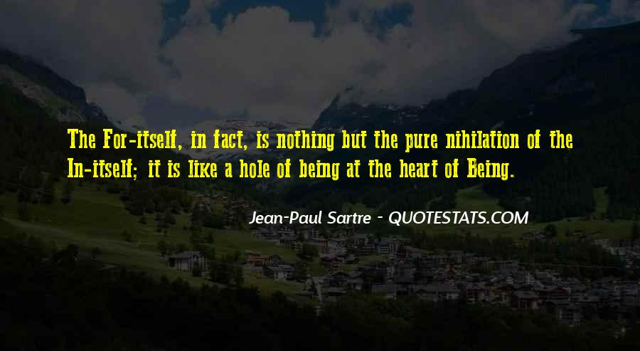 Sartre Nothing Quotes #707940