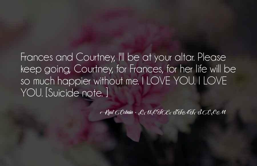 Quotes About Suicidal Love #61494