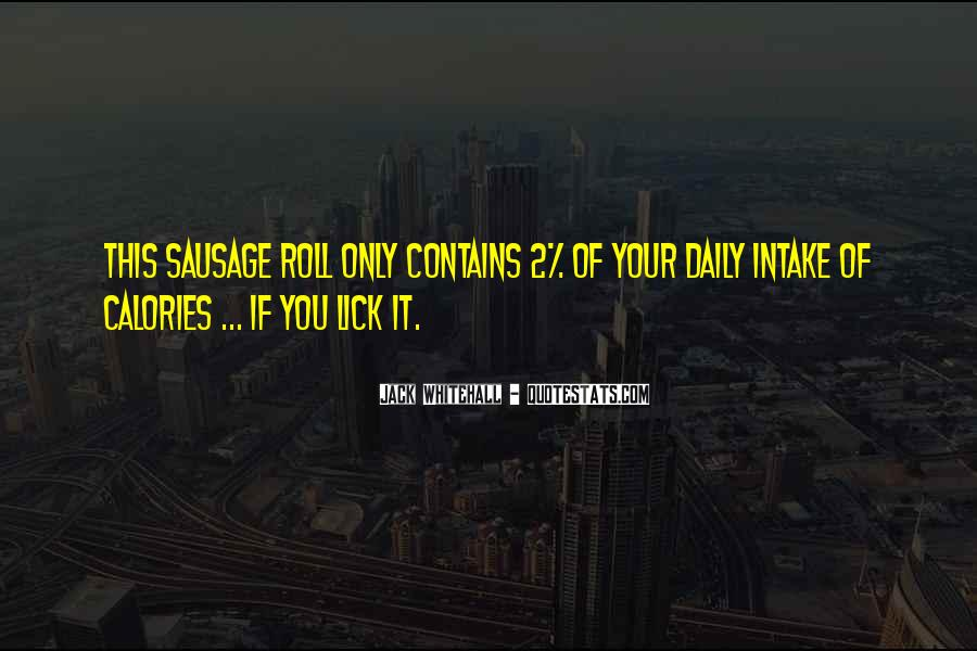 Sausage Roll Quotes #227475