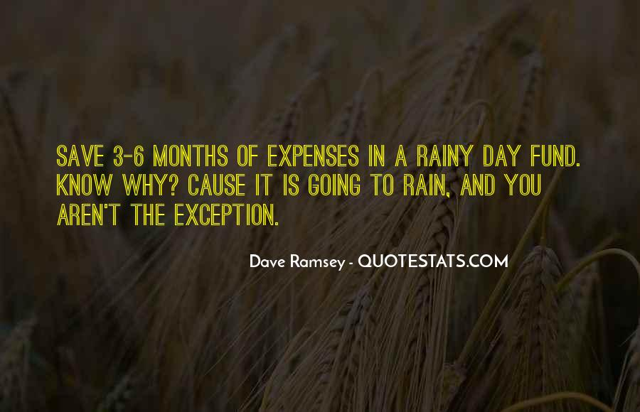 Save For The Rainy Day Quotes #1337254