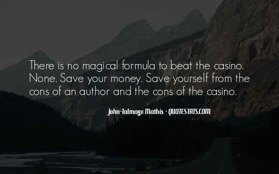 Save Your Money Quotes #1873599