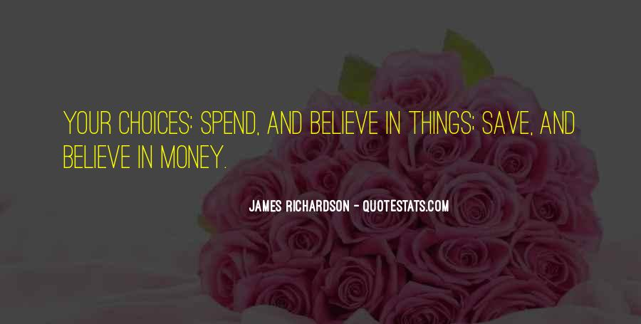 Save Your Money Quotes #219636