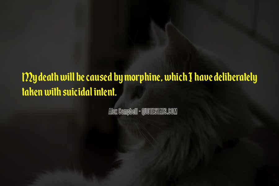 Quotes About Suicidal Death #1072097