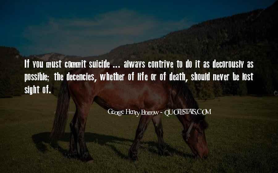Quotes About Suicidal Death #594604