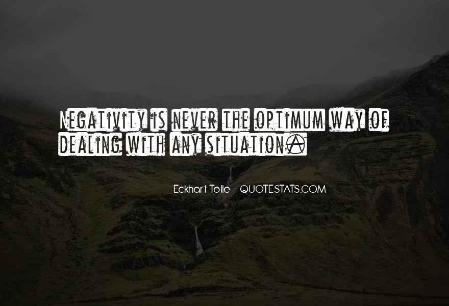 Say No To Negativity Quotes #277007